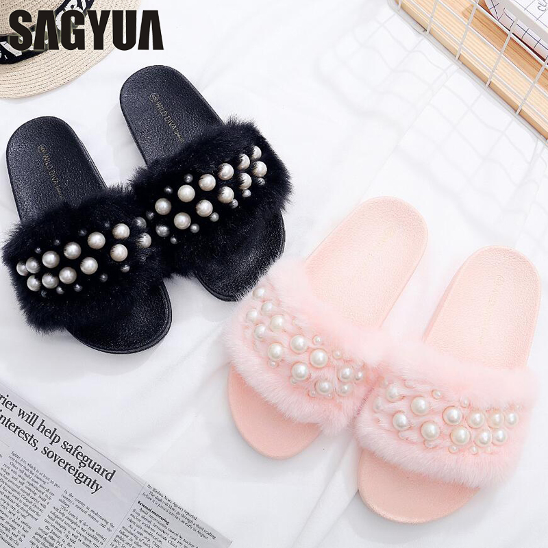 Hus Design Kvinnor Girlish Mujer Casual Fashion Babouche Downy Pearl - Damskor - Foto 1
