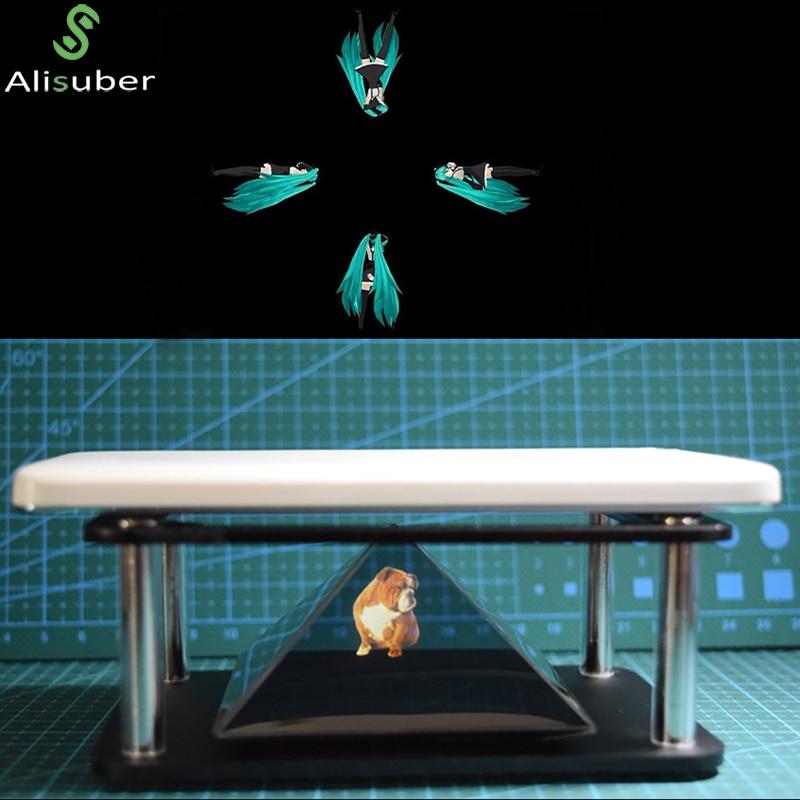 Alisuber 3D Hologram Display Type Indoor Pyramid Hologram Display Hologram Pyramid Luxury Showcase For ipad Smartphone Tablet PC
