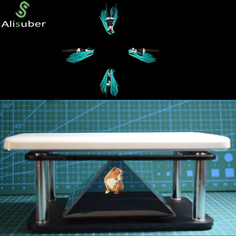 Alisuber 3D Hologram Display Type Indoor Pyramid Hologram Display Hologram Pyramid Luxury Showcase For Ipad Smartphone Tablet PC