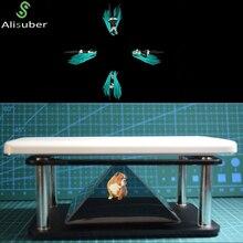 Alisuber 3D Hologram Display Type Indoor Pyramid Hologram Display Hologram Pyramid Luxury Showcase For ipad Smartphone