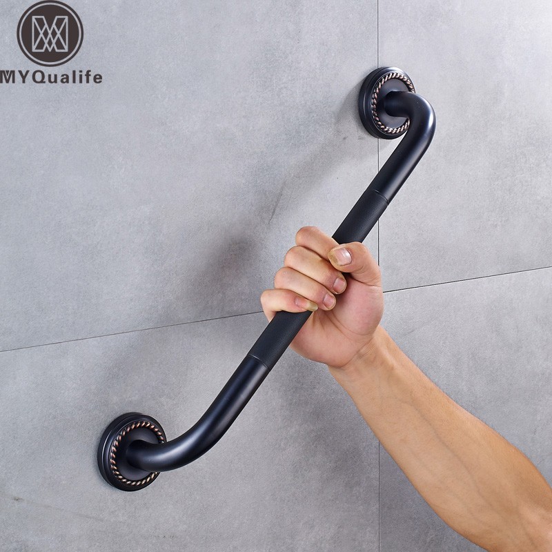 Black Anti-slip Bathtub Grab Bars for Elderly Safety Helping Handle Wall Mounted Bathroom Toilet Safety Handle Helping Rod брюки nike брюки m nk dry sqd pant kpz