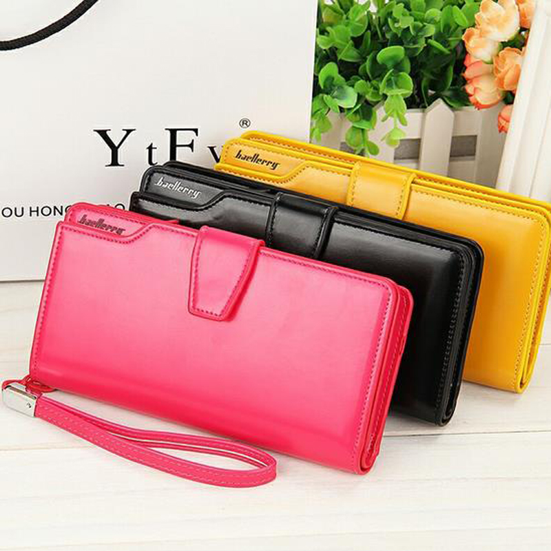 Women agraffe Wallet Multifunctional Zipper Purse Long Style Closure Huge capacity Fashion Hand Money Bag More Card Slots For Ph new arrival button wallet lady multifunctional purse long style zipper hasp oil wax cowhide closure huge capacity fashion han