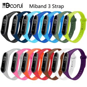 BOORUI Mi Band 3 Strap wrist strap for Xiaomi mi band 3 Silicone Miband 3 accessories Colorful pulsera correa Mi 3 replacement