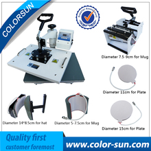 6  in 1  combo heat press machine with CE (silver/black color)