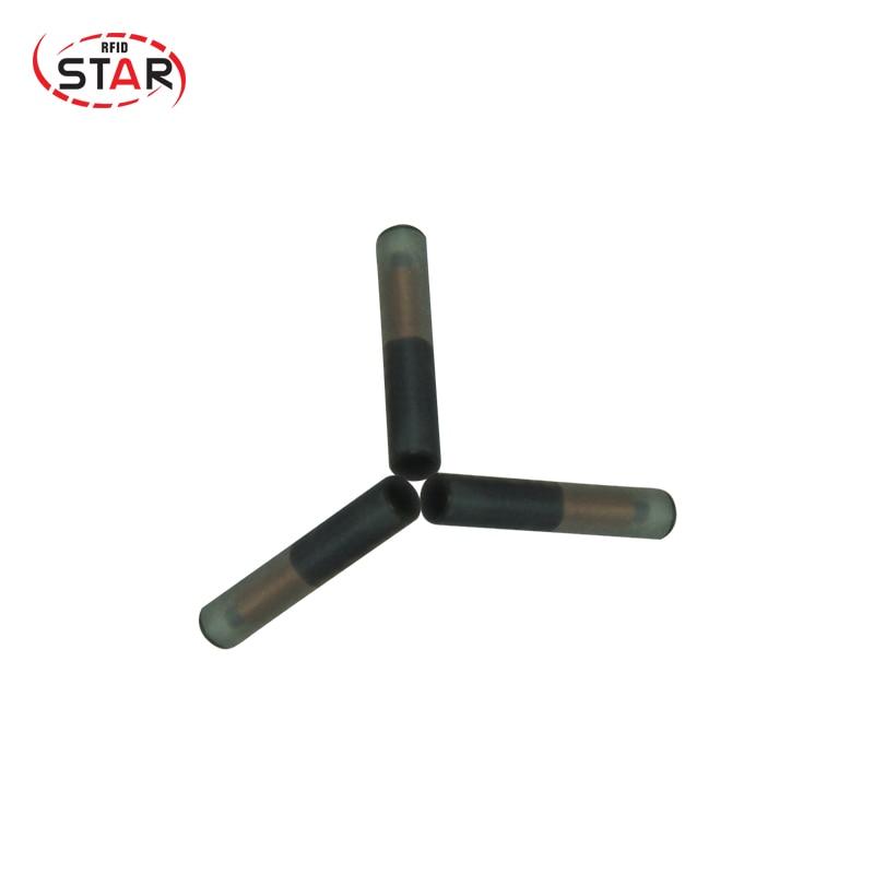 (10pcs/lot) STAR Product Promotion  Safe 2*12mm 125KHz Stanard ISO ChipT5577 Pet Microchip/glass Tag