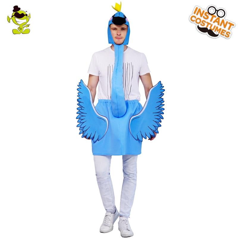 Men/'s Adult Blue flamingo Animal Jumpsuit s Funny Costume
