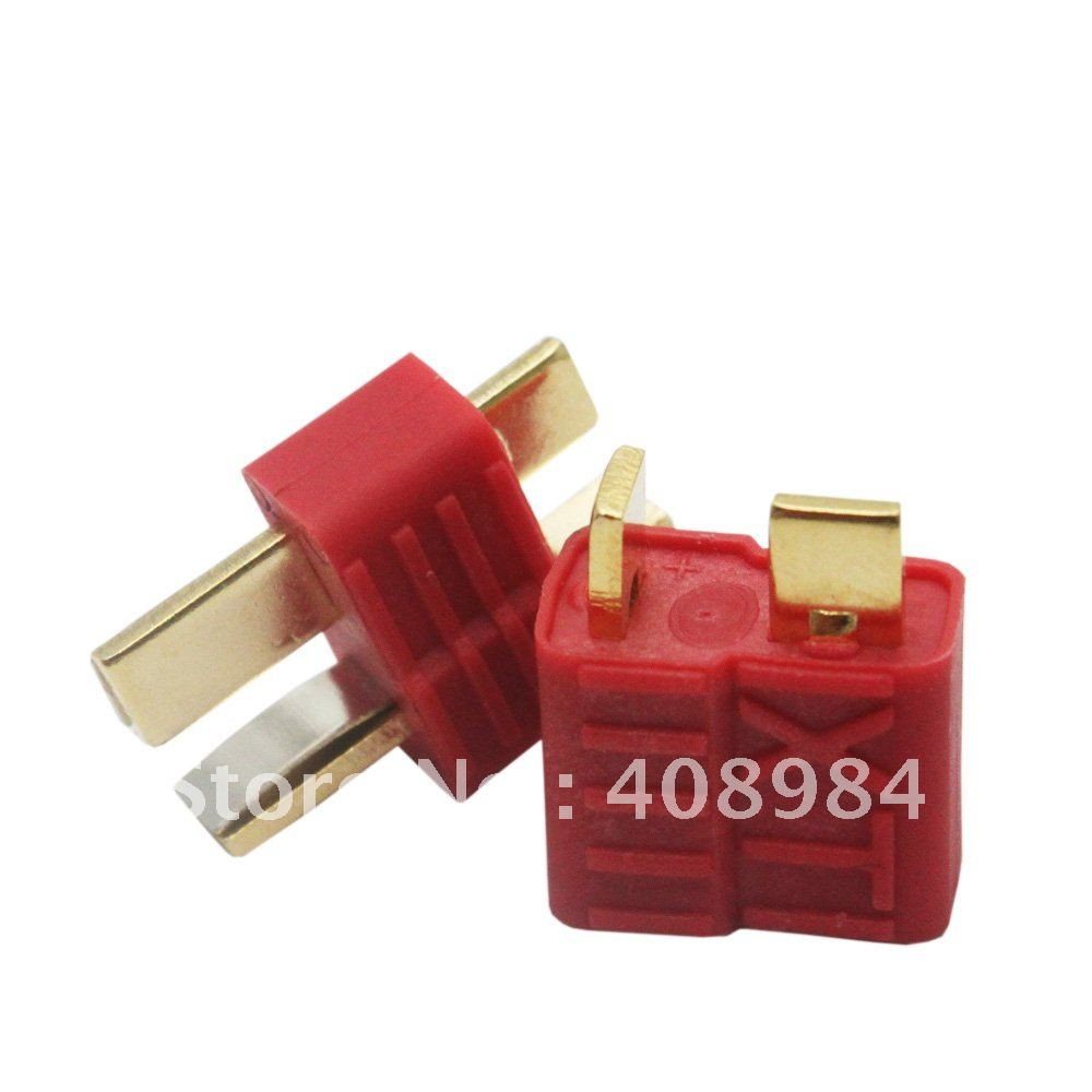 10pair hot sales XT  T plug Dean Connector Anti-skid For ESC Battery male and female  50% off hot new deans style xt plug nylon t connector golden grip slip t plug anti skid for rc esc battery