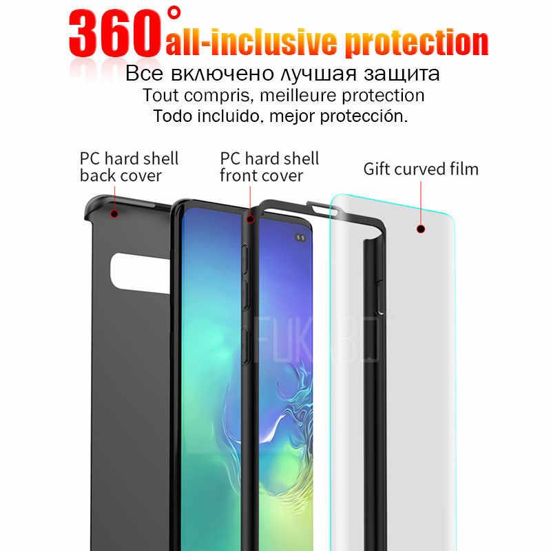 360 Độ Ốp Lưng Điện thoại Samsung Galaxy A50 S10 S9 S8 Plus A7 2018 Note 9 8 A9 A8 A5 vỏ bảo vệ Cho J4 J5 J6 J7 M20 Ốp Lưng