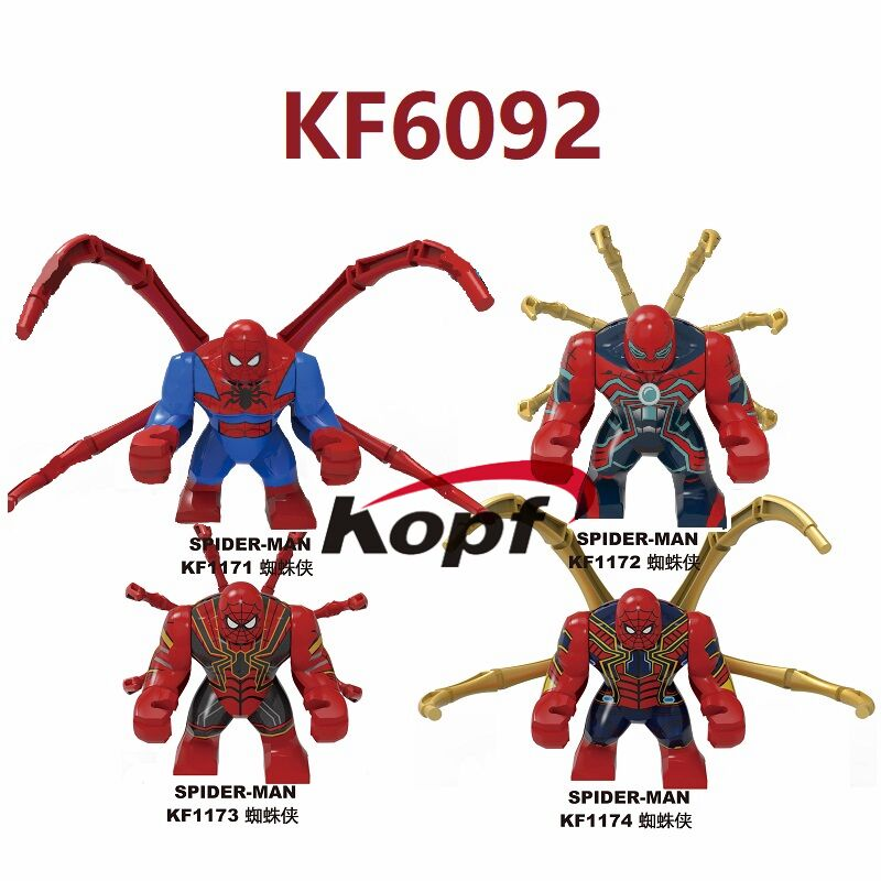 Super Heroes Building Blocks 7cm Model Bricks Spider-Man Far From Home Ironman Figures Dolls Education For Children Toys KF6092 image