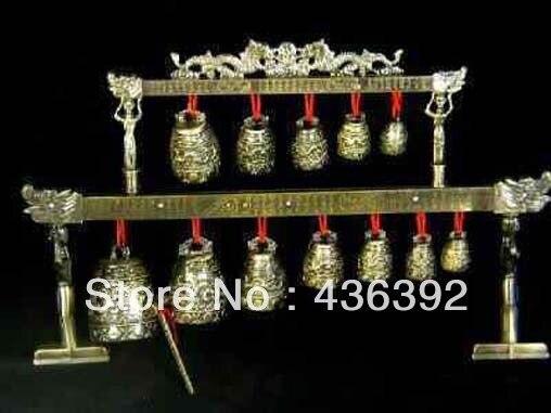 Brass bells Chinese Tibet dragon glockenspiel
