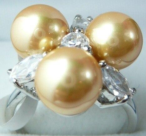 FREE SHIPPING>>>@@ 4 colors wholesale beautiful design 8mm 3 yellowblackredpink flower fashion ring(#7.8.9)
