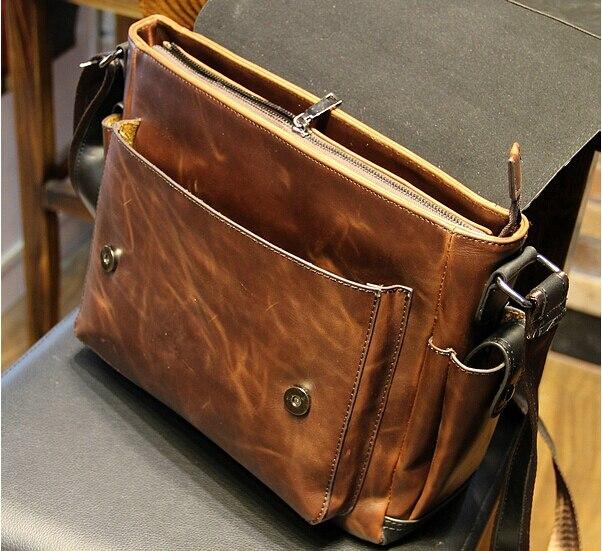 2015 Mens Leather Shoulder Bag High Quality Leather Messenger Bags ...