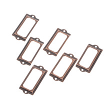 12Pcs 70x33mm Antique Furniture Handle Iron Label Pull Frame File Name Card Holder for Cabinet Drawer Box Bin