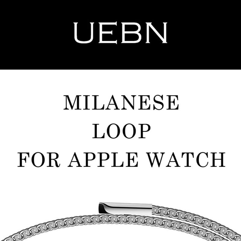 UEBN milanese loop for apple watch Series 1 2 band for iwatch stainless steel strap Magnetic adjustable buckle with adapters anet a6 desktop 3d printer kit big size high precision reprap prusa i3 diy 3d printer aluminum hotbed gift filament 16g sd card