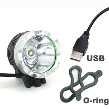 USB Bicycle light XM-L T6 2000LM 5V USB LED Bike Bicycle Light 3 Modes With 2*Orings(China)