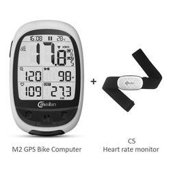 Meilan GPS Core bezprzewodowy komputer rowerowy M2 licznik rowerowy + Monitor tętna C5 w Komputery rowerowe od Sport i rozrywka na