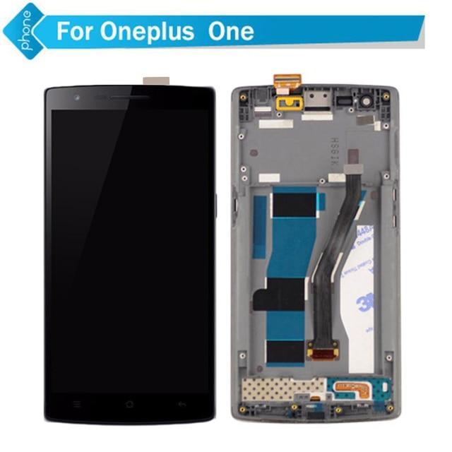 For one plus one 1 display lcd de toque digitador da tela com moldura para oneplus one montagem