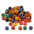 100pcs/Bag Rubber H Type Tattoo Rubber Grommets Tattoo Needle Buckles Assorted Color For Tattoo Machine Accessories