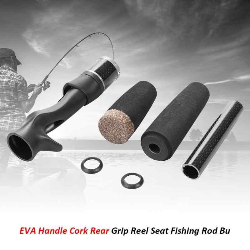 إيفا مقبض سبليت الفلين قبضة الخلفية بكرة مقعد الصيد رود طقم تصليح البناء ل baitcast/الغزل بكرة الصيد