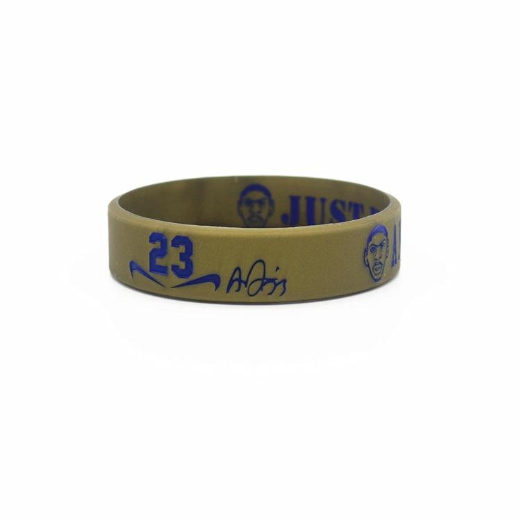 3pcs top quality power rubber sports bangle basketball super star davis head version silicone energy wristband balance bracelet
