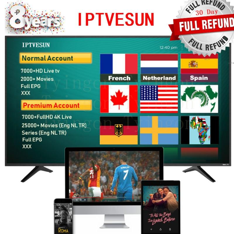 Iptvesun Normal/Premium Account French Iptv Netherland Iptv Dutch Iptv Germany Iptv Spain Iptv Africa Iptv Subscription M3u