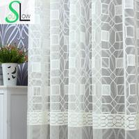 Slow Soul Jade White Beige Coffee Water Cube Warp Jacquard Curtain Modern Bedroom Geometric Curtains For