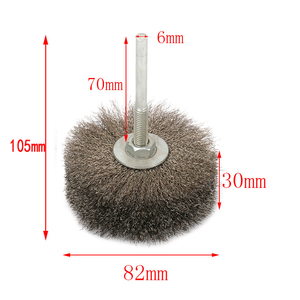 Image 2 - YEODA 1PC 105X82mm*6mm SS Steel Wires polished Head Brushes For Carving Burr Wood Mahogany Furniture Root Relief