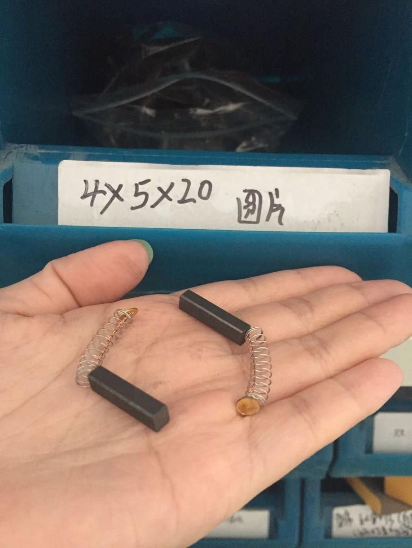 2Pcs Replacement U-Type Carbon Brush 12mm x 32mm x 40mm D214 Model