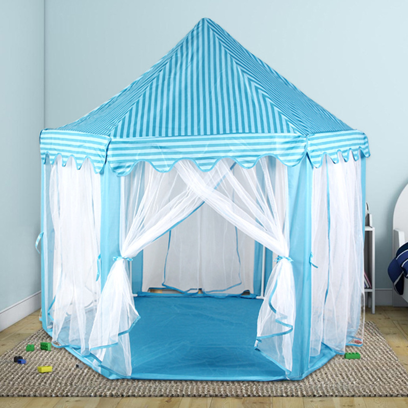 Foldable Princess Girl Castle Tents Indoor Outdoor Cute Children Playing House Sleeping Tent Portable Kids Play Toy Tents