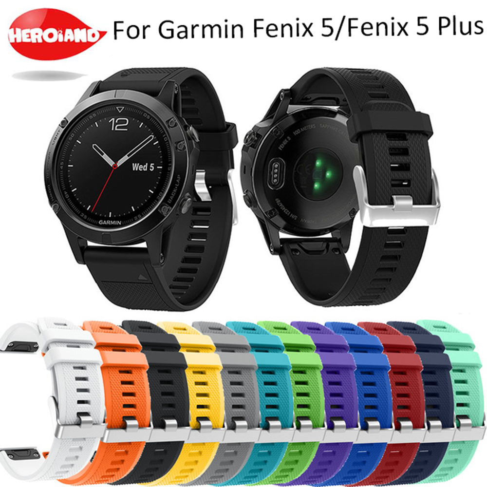 22MM Watchband for Garmin Fenix 5/5 plus for forerunner 935 GPS Watch Quick Release Printed Silicone Easy fit Wrist Band Straps 22mm watch band accessories stainless steel quick fit release watch bands straps for garmin forerunner 935 fenix 5
