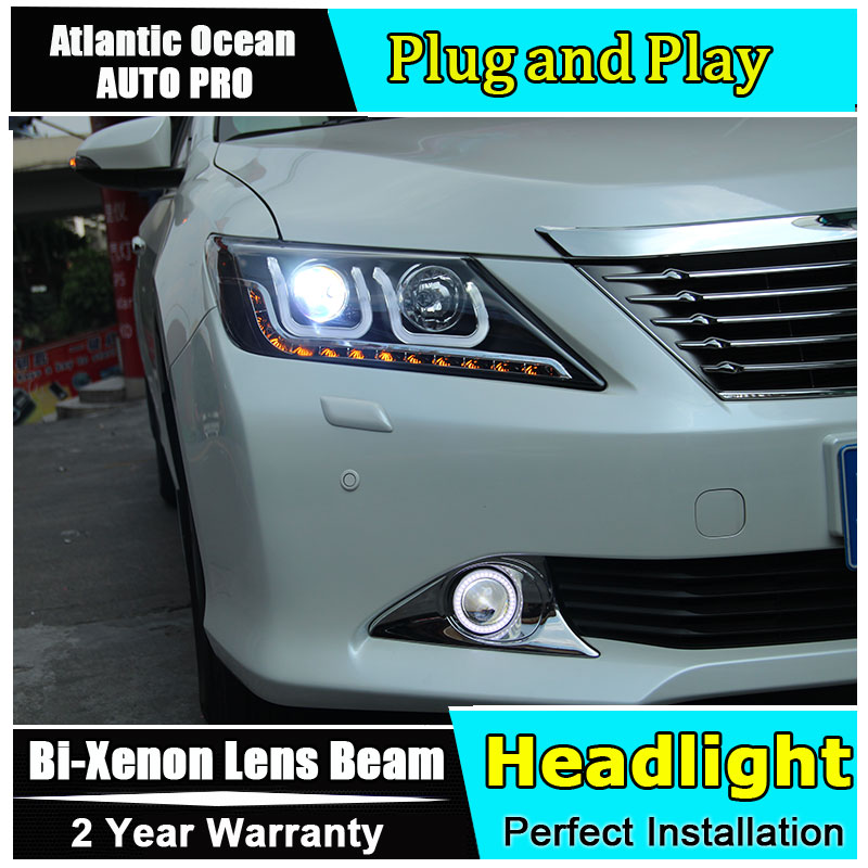 AUTO.PRO 2012-2014 For Toyota Camry headlights bi xenon lens car styling For Toyota Camry HID KIT head lamps