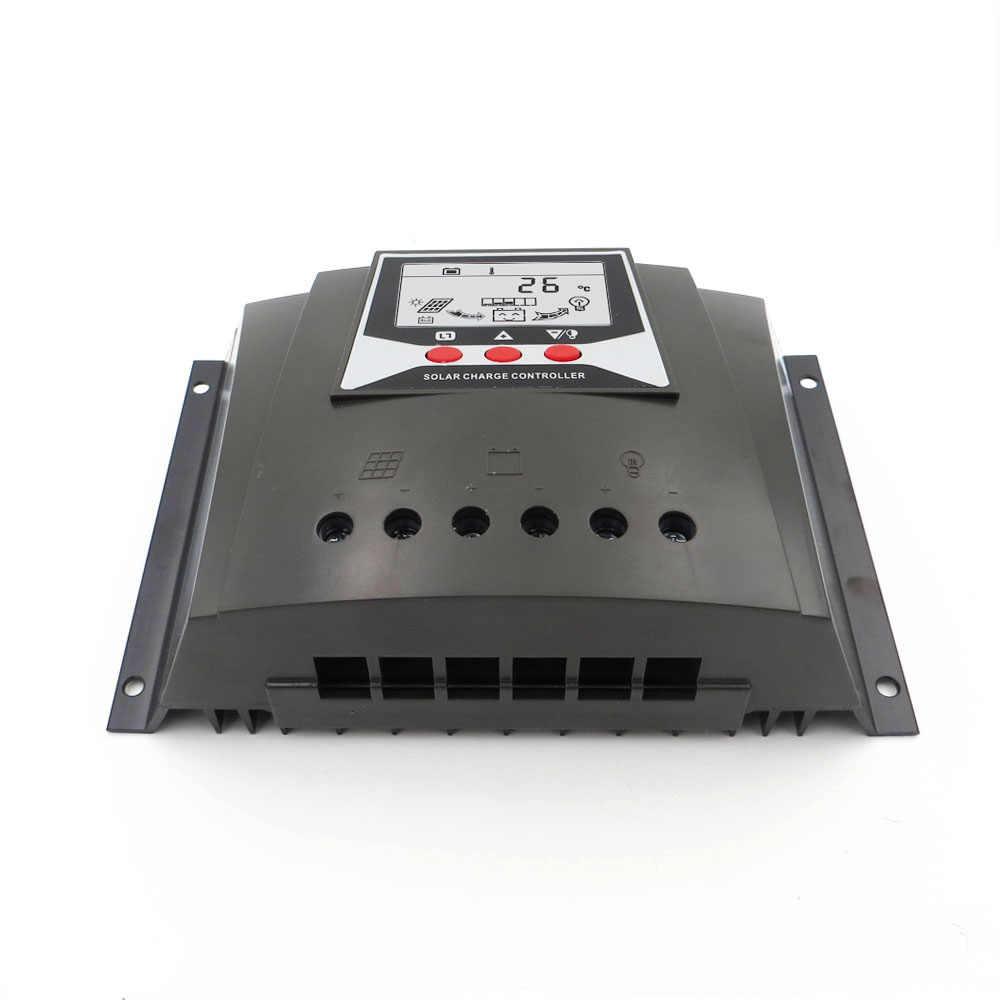 50A ШИМ Солнечный Зарядное устройство контроллер регуляторы зарядного устройства 50 Ампер 12 В 24 В Авто Подсветка LiFePO4 литиевых Батарея 3,2 В 3,7 В