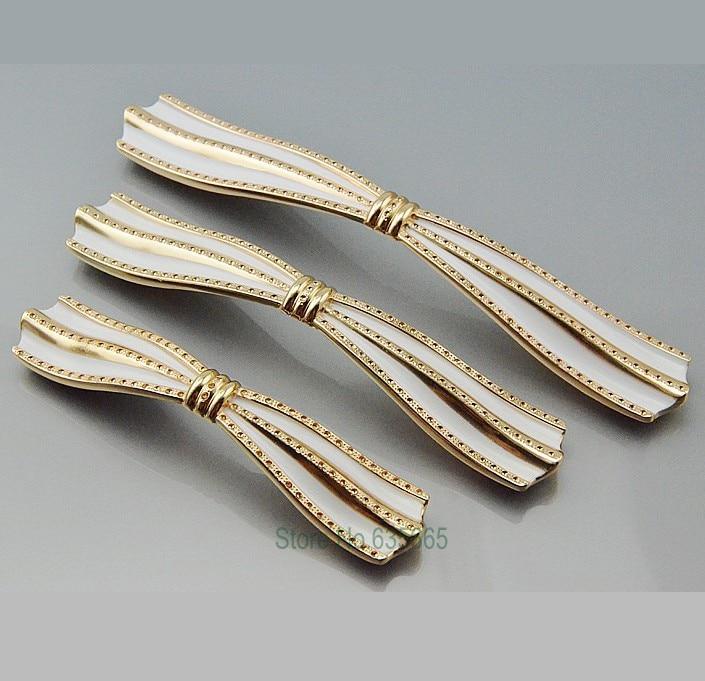 US $39.8 |12 pz Di Lusso In Oro Rosa Ferramenta per mobili Maniglie Mobili  Da Cucina Tirare Manopole Del Cassetto Armadio armadio Dresser Pull ...