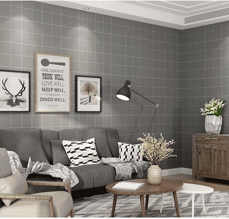 living plaid minimalist nordic wallpapers