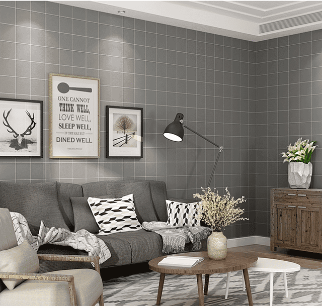New Modern Minimalist Black White Plaid Wallpaper Nordic Style Living Room  Background Wall Clothing Store Wallpaper