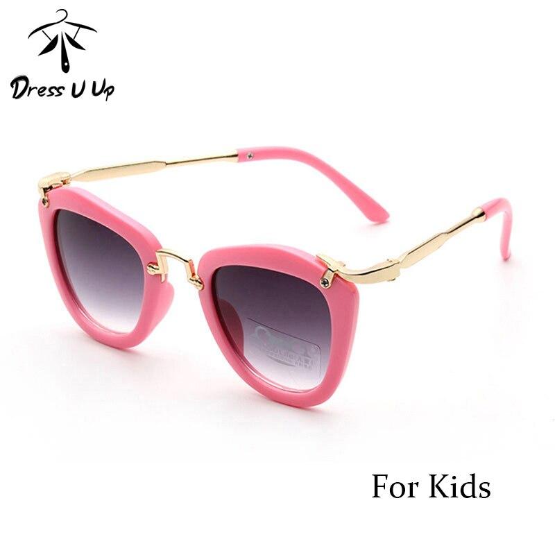 2015 New Candy Cute Boys Girls Kids Sunglasses Vintage Sun Glasses Children Cat Eye Sunglass Oculos infantil De Sol 6 Colors