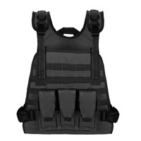 High Quality Soft Tactical Molle Military Vest Plate Carrier Paintball With Pouches Sportswear Hunting Vests Outdoor