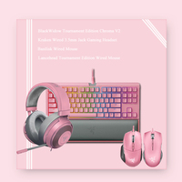 Original Razer Quartz Series of BlackWidow Tournament Edition Chroma V2 Wired Keyboard Mechanical Keyboard Earphone and Mouse