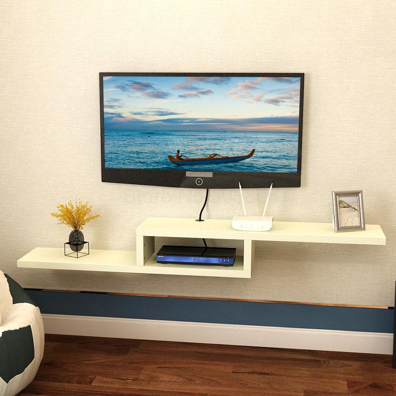 Tv Kast Muur.Eenvoudige Moderne Plank Rack Tv Set Box Plank Muur Opknoping Tv