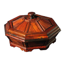 Shengwei whole process more independent board grid Guo He Laos red rosewood mahogany fruit plate crafts gifts collection level