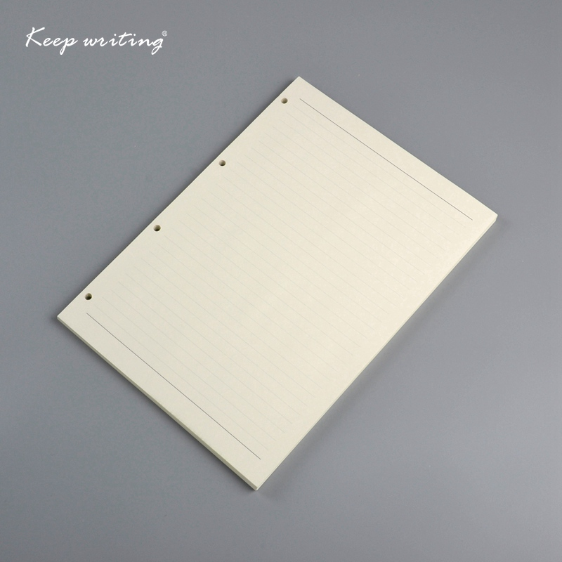 A4 Filler Paper with 4 holes Organizer inner papers lined pages Plain pages 72 sheets 100 gsm notepad book notebooks journals