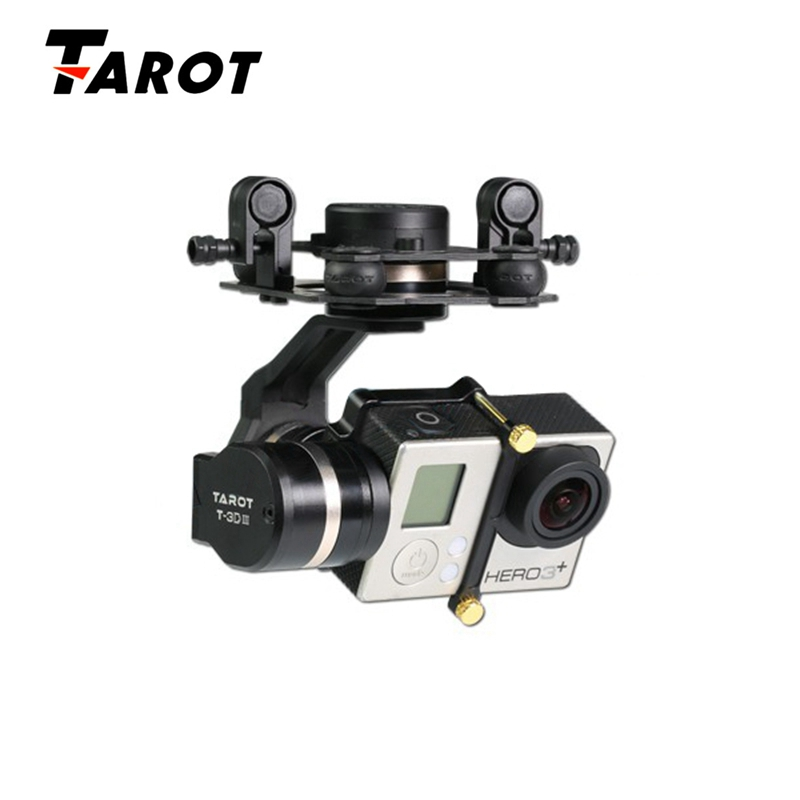 Tarot 3D III Metal CNC 3 Axis Brushless Gimbal PTZ for GOPRO 4  3 FPV Quadcopter TL3T01 tarot gopro t 3d iv 3 axis hero4 session camera gimbal ptz for fpv quadcopter drone multicopter tl3t02 ylbz b