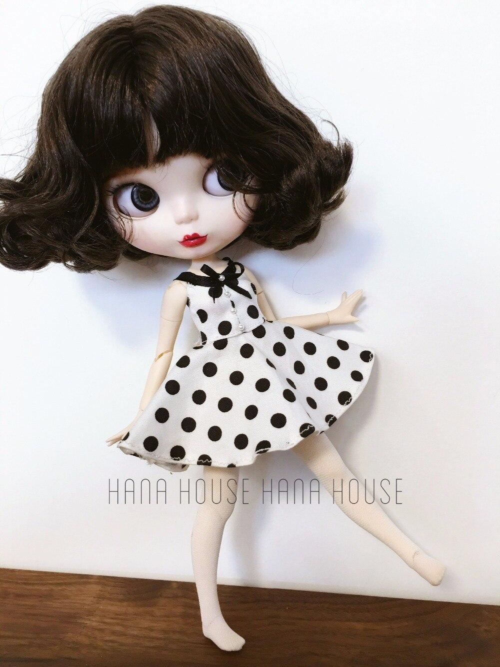 Blythe dress  polka dress