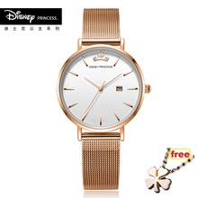 Disney official Hot Sale STEEL strap Style Quartz Women thin dw  Top Brand Watches Fashion Casual Fashion Wrist Watch Relojes цена и фото