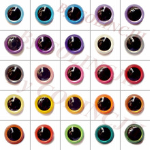 Free Shipping 100Pairs 8mm Handmade Plastic Colored Eyes Safety Animal Doll Mixcolor