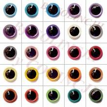 50 pares 8mm/9mm/10mm/12mm/15mm/18mm mixcolor artesanal olhos coloridos olhos de segurança animal boneca olhos