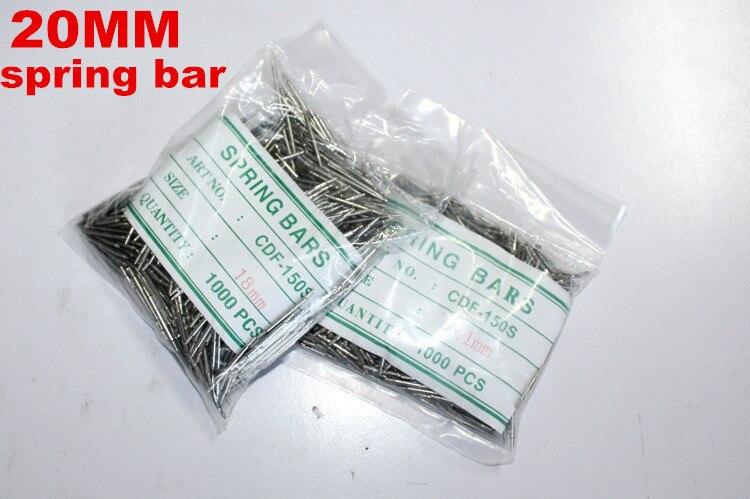 Wholesale 1000PCS bag High quality watch repair tools kits 20MM spring bar watch repair parts 041412