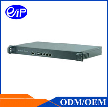Firewall Router 4 LAN 1U Linux J1900 Quad Core ROS Server Firewall router Rackmount Networking 1U Server case