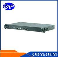 Брандмауэр маршрутизатор 4 LAN 1u Linux J1900 4 ядра ROS сервера брандмауэра маршрутизатора стойки Сетевое оборудование 1u сервер случае
