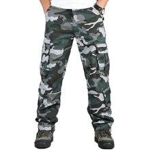 Камуфляжные мужские брюки в стиле милитари с несколькими карманами, брюки-карго, хип-хоп джоггеры, городские комбинезоны, верхняя одежда, камуфляжные тактические брюки